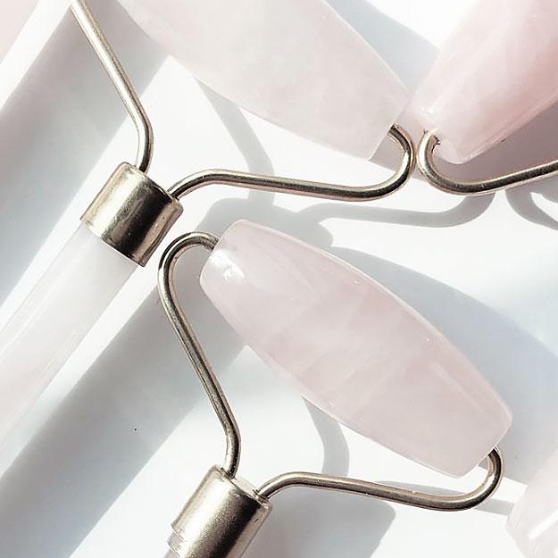 Роллер для лица из розового кварца или нефрита массажер виброплатформа